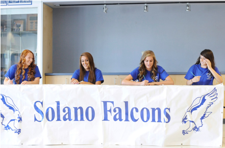 Solano Community College players, from left to right, Karlie Mast, Michelle Giron, Tara Cooley and Janelle Richards are each transferring to four-year schools to play soccer. (Robinson Kuntz/Daily Republic)